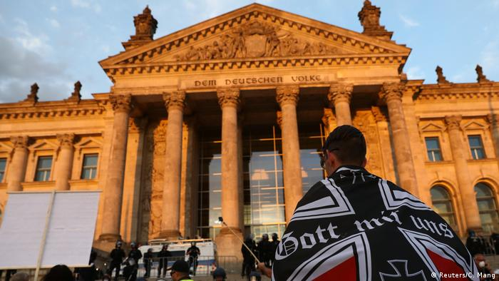 Deutschland Berlin Protest gegen Corona-Maßnahmen am 28.8.2020
