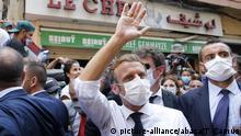 Libanon Präsident Macron besucht Beirut nach der Explosion