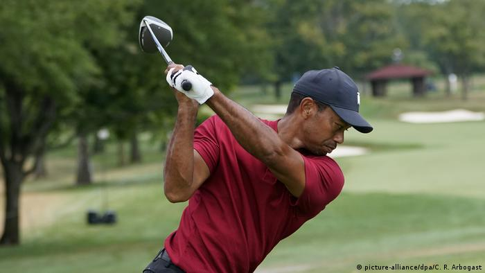 Tiger Woods at the BMW Championship (picture-alliance/dpa/C. R. Arbogast)