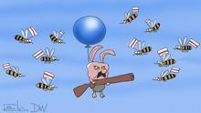 Karikatur Sergey Elkin Belarus Lukaschenko