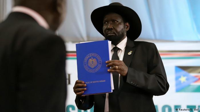 Südsudan Juba Unterzeichnung Friedensvertrag mit Rebellen (Reuters/S. Bol)