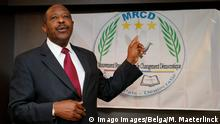 18.6.2019*** MRCD-UBUMWE chairman Paul Rusesabagina pictured during a press conference of the political platform MRCD-UBUMWE and the political party RDI-EWANDA RWIZA, concerning the political and security situation in Rwanda, in Brussels, Tuesday 18 June 2019. PUBLICATIONxINxGERxSUIxAUTxONLY NICOLASxMAETERLINCK 2353758