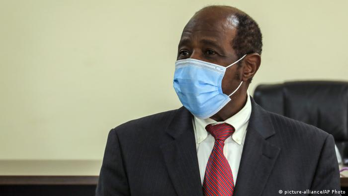 Paul Rusesabagina after his arrest in Kigali