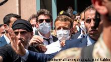 Libanon Frankreichs Präsident Macron in Beirut