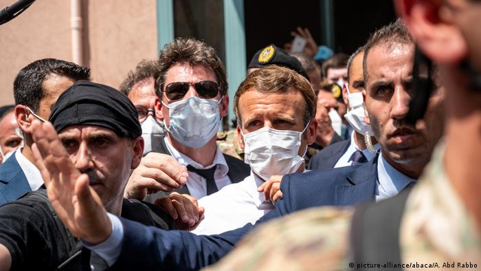 Libanon Frankreichs Präsident Macron in Beirut (picture-alliance/abaca/A. Abd Rabbo)