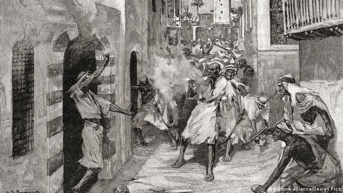 Drusen und ihre beduinischen Verbündeten greifen die Maroniten an (1860) (picture-alliance/Design Pics)