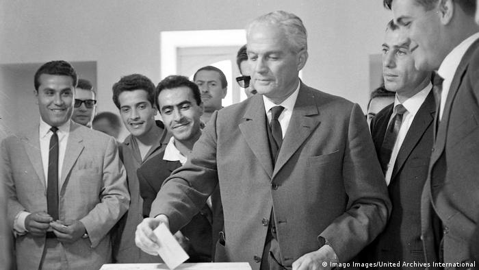 Libanon Ehem. Präsident Camille Chamoun (1964) (Imago Images/United Archives International)