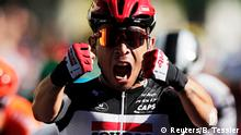 Cycling - Tour de France - Stage 3 - Nice to Sisteron - France - August 31, 2020. Lotto Soudal rider Caleb Ewan of Australia wins the stage. REUTERS/Benoit Tessier
