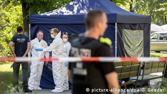 Место убийства Зелимхана Хангошвили в Берлине, август 2019 года