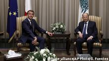 Libanon Präsident Michel Aoun trifft Emmanuel Macron