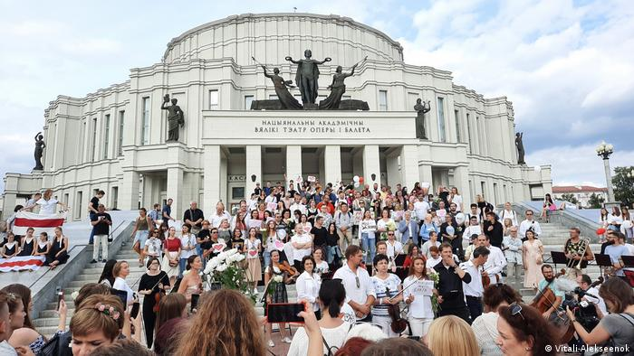 Musiker protestieren gegen das Regime in Belarus