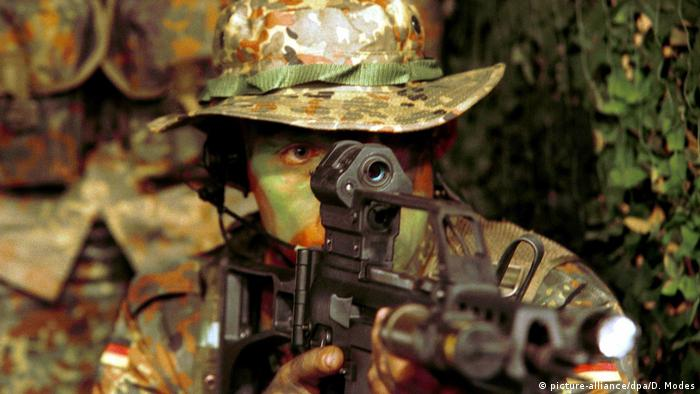 A soldier from the elite KSK Special Forces Command