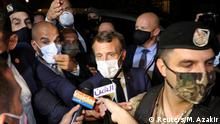 Libanon | Emmanuel Macron im Gepräch mit Journalisten