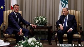 Συνάντηση του Εμανουέλ Μακρόν με τον Λιβανέζο ομόλογό του Μισέλ Αούν