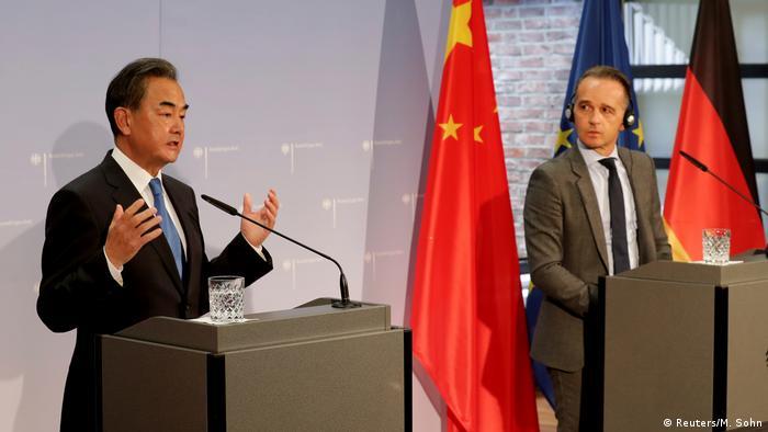 王毅与德国外长马斯9月1日在柏林召开联合新闻发布会