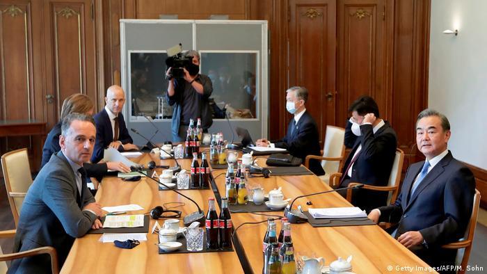 Deutschland Treffen Heiko Maas und Wang Yi in Berlin (Getty Images/AFP/M. Sohn)