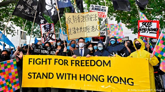 Deutschland Demonstration für Hongkong in Berlin (Getty Images/AFP/T. Schwarz)