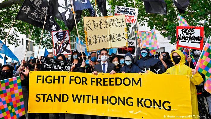 Deutschland Demonstration für Hongkong in Berlin