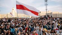 ***ACHTUNG: Bild nur zur abgesprochenen Berichterstattung verwenden!*** via Anastassia Boutsko Belarus Protest gegen Lukaschenko in Minsk. Foto: Pavel Krichko am 30.8.2020