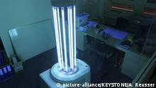 Schweiz UVD Roboter desinfiziert mit UV-C-Strahlung Büroräume
