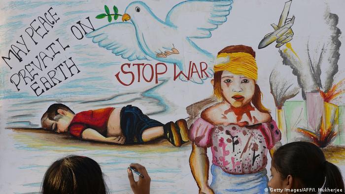 Indien Gemälde Aylan Kurdi