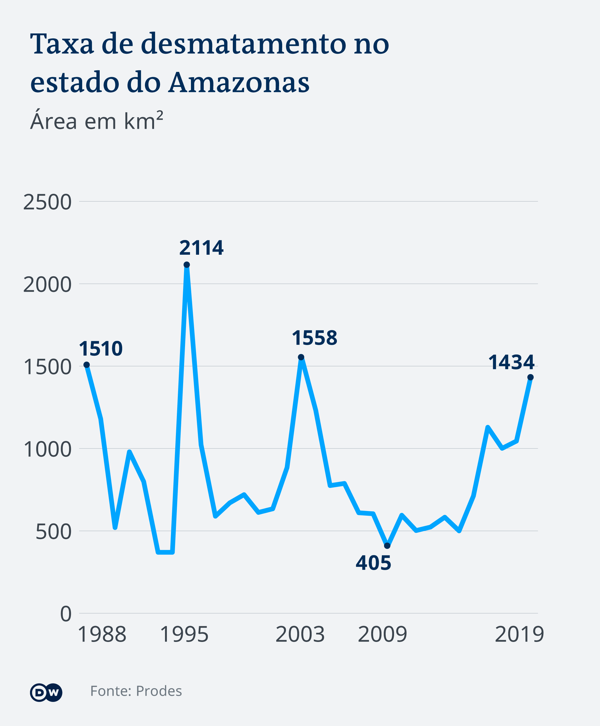 Infografik - Abholzung in dem brasilianischen Bundesstaat Amazonas - PT