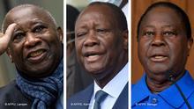Bildkombo Gbagbo, Ouattara und Bedie