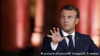 Libanon Beirut Pressekonferenz Emmanuel Macron