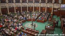 Tunesien Tunis   Rede Hichem Mechichi vor Abstimmung im Parlament