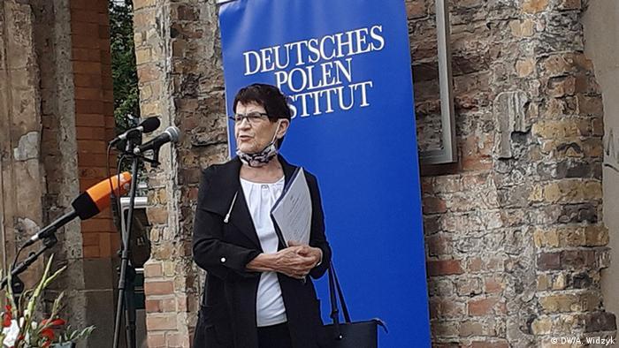 """Prezes DPI i była przewodnicząca Bundestagu Rita Suessmuth: sprawy w Bundestagu """"są na dobrej drodze"""" (DW/A. Widzyk)"""