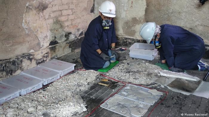Brasilien Wiederaufbauarbeiten im Nationalmuseum
