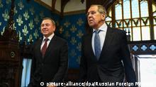 Russland Moskau | Außenminister von Weißrussland Wladimir Makei und Außenminister von Russland Sergej Lawrow