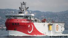 The Oruc Reis near Istanbul in October 2018 (Reuters/Y. Isik)