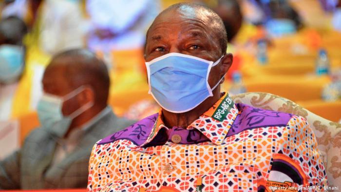 Guinea Präsident Alpha Conde (Getty Images/AFP/C. Binani)