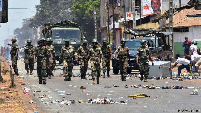 Protesto em Conakry em março deste ano