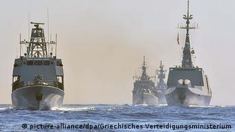 Боевые суда стран ЕС на совместных учениях в восточном Средиземном море
