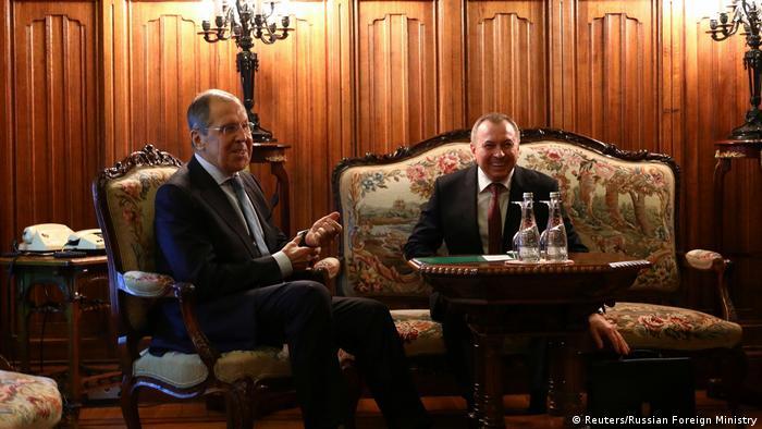 Russland Moskau Außenminister Lawrow Treffen mit weißrussischen Amtskollegen Makei