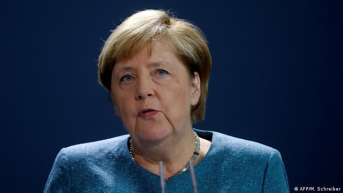 Канцлер Германии Ангела Меркель во время пресс-конференции, на которой она подтвердила выводы о том, что в анализах российского оппозиционера Алексея Навального были обнаружены следы боевого яда группы Новичок.