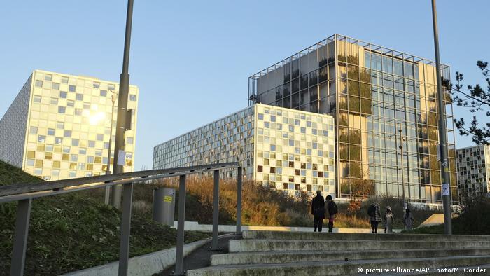 Niederlande Den Haag Außenansicht Internationaler Strafgerichtshof (ICC) (picture-alliance/AP Photo/M. Corder)