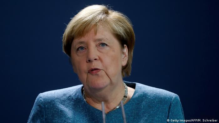 Deutschland Merkel PK Navalny (Getty Images/AFP/M. Schreiber)