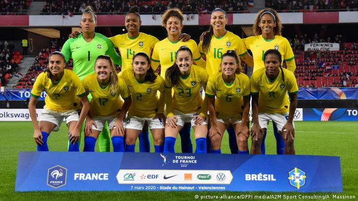 The team of Brazil ahead of the Tournoi de France 2020
