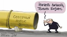 Karikatur Sergey Elkin Nordstream 2 Putin
