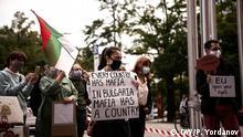 Bulgarische Studierende protestieren gegen bulgarische Regierung in München, Deutschland, 2.9.2020 Credit: DW/Plamen Yordanov