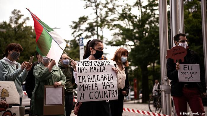 Deutschland München Protest gegen bulgarische Regierung