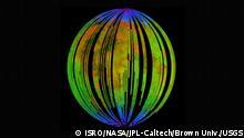 NASA Mond (ISRO/NASA/JPL-Caltech/Brown Univ./USGS)