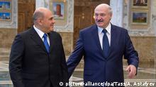 Belarus Michail Mischustin und Alexander Lukaschenko