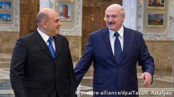 Премьер-министр РФ Михаил Мишустин и президента Беларуси Александр Лукашенко