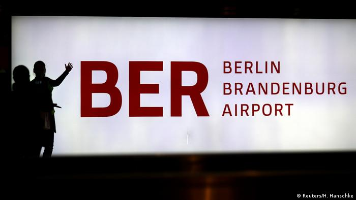 A sign for Berlin's new BER Airport
