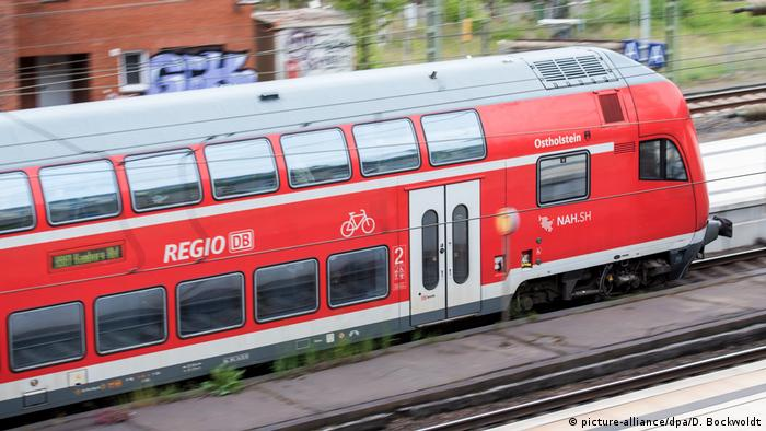 A German regional train in Hamburg