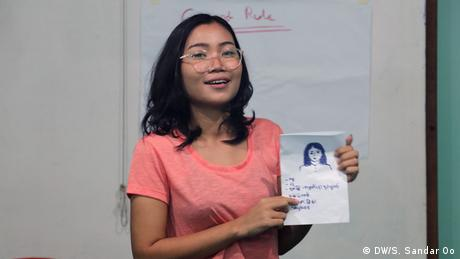 Teilnehmerin, Training, Myanmar, Ethnic, State, DW, Akademie (DW/S. Sandar Oo)